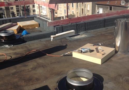 Puits de lumière toit terrasse - Installation